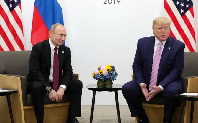 Putin ja Trump 2019. aastal Osakas.