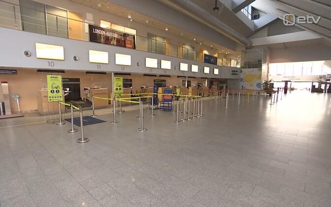 Video: Tallinna lennujaam on inimtühi, kuid töötab siiski