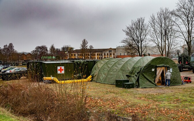 An EDF field hospital.