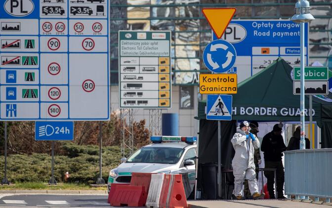Piiriületuspunkt Poola-Saksa piiril.