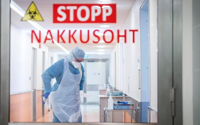 Contamination warning at North Estonia Medical Center (PERH) in Tallinn.