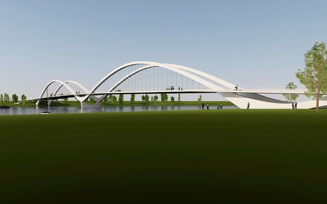 Проект моста, выигравший архитектурный конкурс.