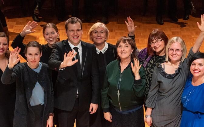 Klassikaraadio kollektiiv koos Risto Joostiga
