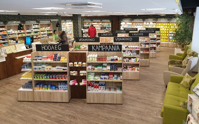 Independent Paekivi Pharmacy owned by Andre Vetka.