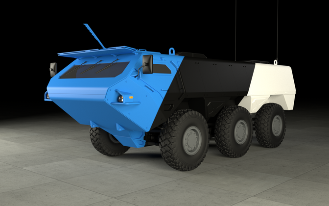 Design of the armored vehicle manufactured by the Estonian consortium