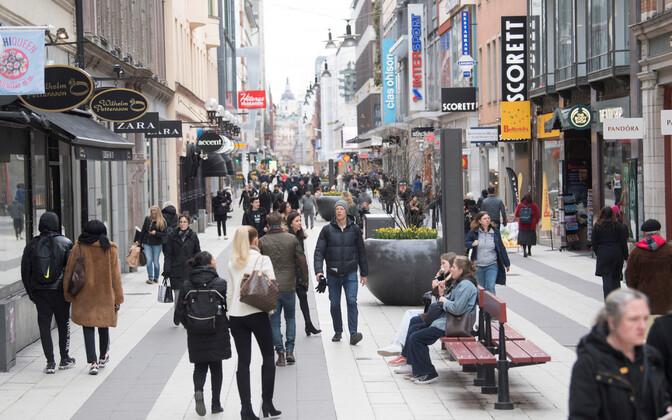Stockholmi kesklinn 1. aprillil.