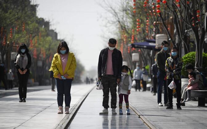 Kolm vaikuseminutit Hiinas.