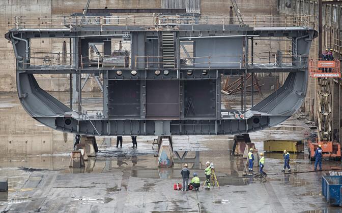 Rauma Marine Constructions (RMC) shipyard in Finland.