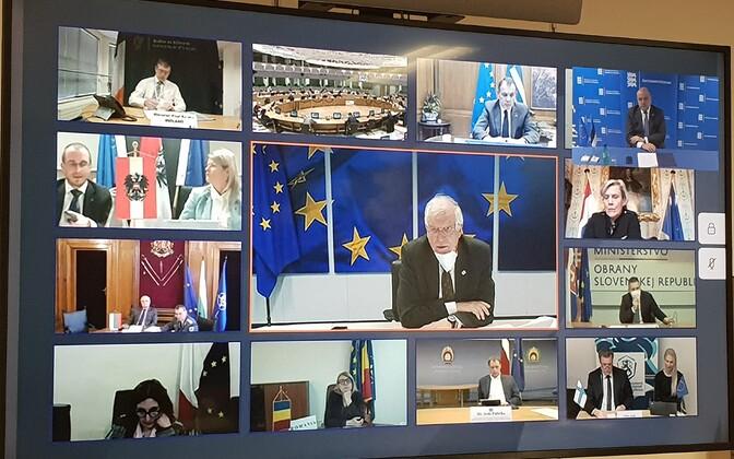 Euroopa Liidu kaitseministrite videokonverents.