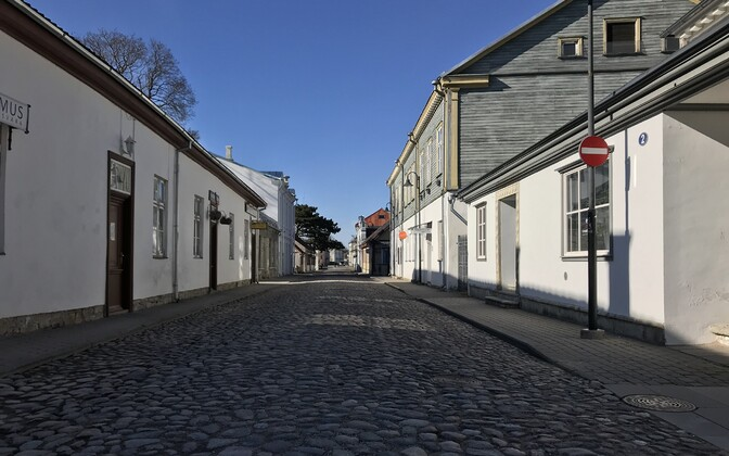 Deserted streets in Saaremaa's capital,  Kuressaare, during the coronavirus pandemic.