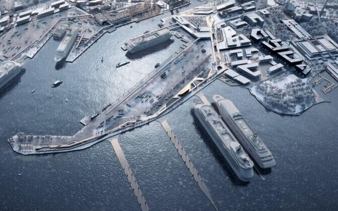 Макет Таллиннского порта.