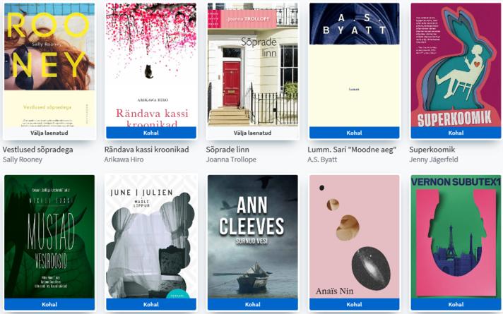 Tallinna keskraamatukogu e-raamatute keskkond ELLU.