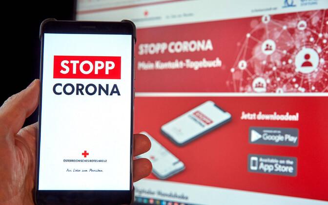 Austria Punase Risti loodud koroonaäpp.