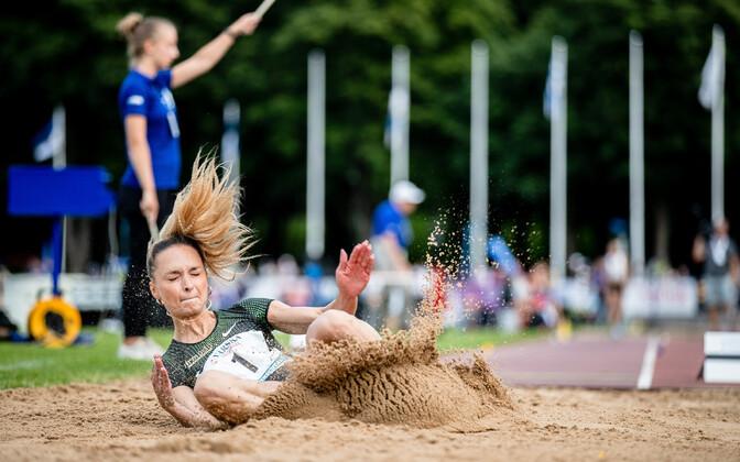 Эстонская легкоатлетка Ксения Балта.
