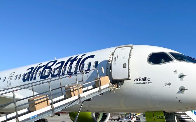 Air Balticu lennuk tõi Hiinast Lätti kaitsevahendeid.
