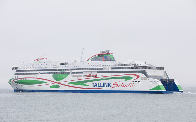Tallink's Megastar, usually a passenger ferry, is now being used for cargo only.
