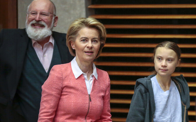 Märtsis võtsid Euroopa Komisjoni juhid Brüsselis vastu Rootsi kliimaaktivisti Greta Thunbergi.