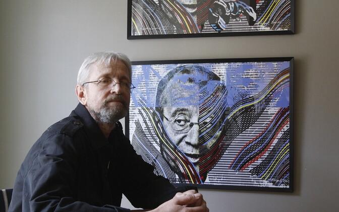 Karikaturist ja kunstnik Andrus Peegel.