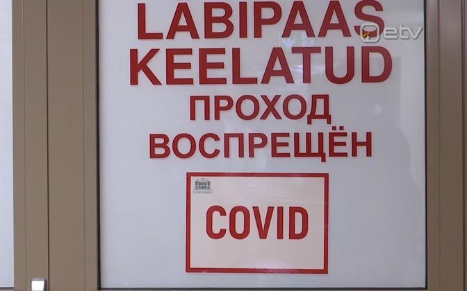 COVID ward at Narva Hospital.