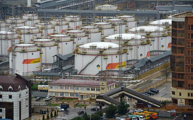 Toornafta mahutid Venemaal Tuapses.