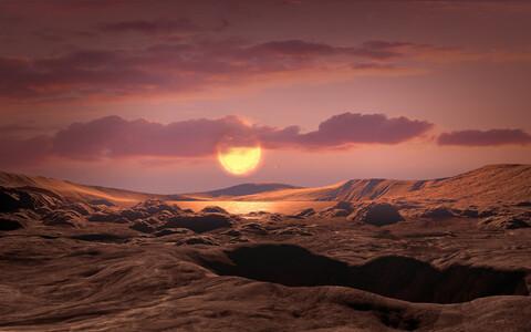 Eksoplaneet Kepler-1649c kunstniku nägemuses.