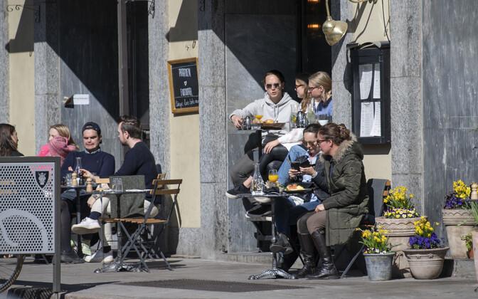 Stockholmi tänavapilt lihavõttepühade ajal.