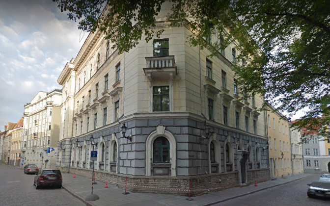 Interior ministry building on Pikk Street in Tallinn's Old Town.