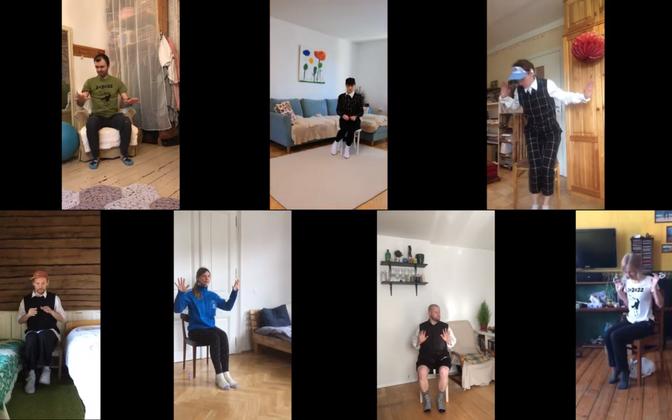 ZUGA tantsijad näitavad, kuidas 2+2 reeglist kinni pidada.