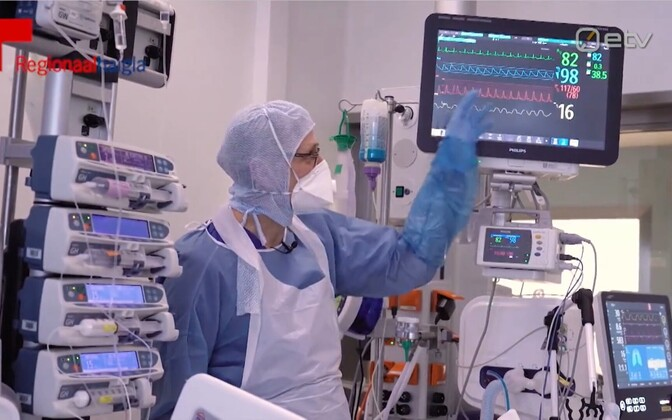 The intensive care unit at North Estonia Medical Center in Tallinn.