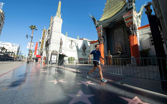 Tühi Sunset Boulevard Los Angeleses Californias.