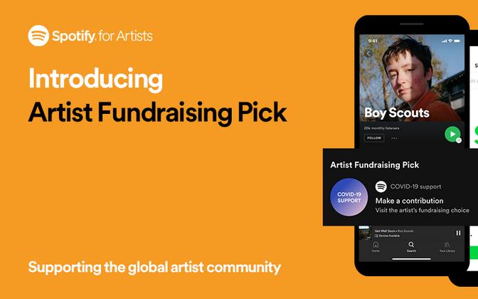 Spotify käivitas funktsiooni mis võimaldab muusikutel koguda platvormi kaudu raha COVID-19 mõjude leevendamiseks.