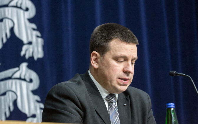 Peaminister Jüri Ratas valitsuse pressikonverentsil