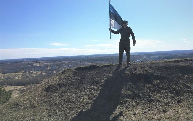 Водружение флага в Кивиыли.