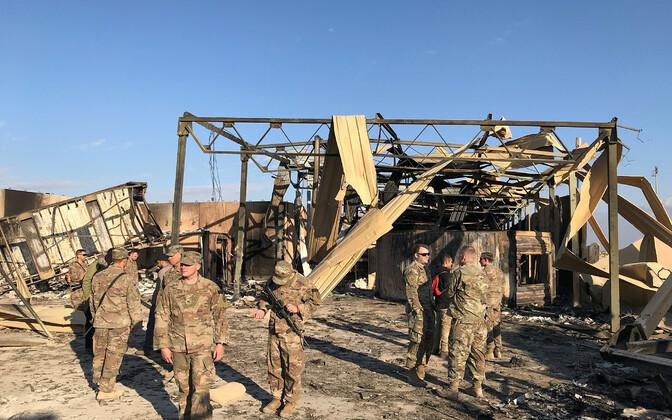 USA sõjaväelased Iraani raketirünnakus tabamuse saanud al-Asadi baasis Iraagis.