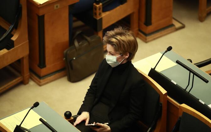 Йоко Алендер на заседании Рийгикогу.