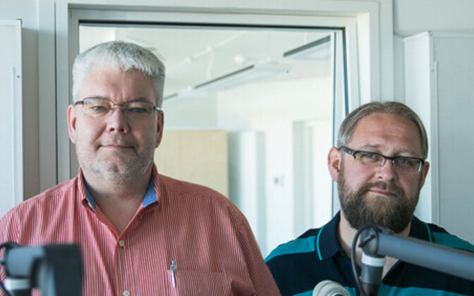 Anvar Samost (right) and Toomas Sildam, hosts of