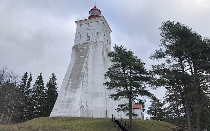 Kõpu Lighthouse, a popular place for tourists to visit on the island of Hiiumaa .
