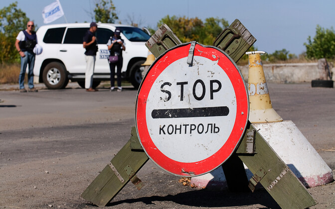 Ukraina Luganski separatistide kontrollpunkt.
