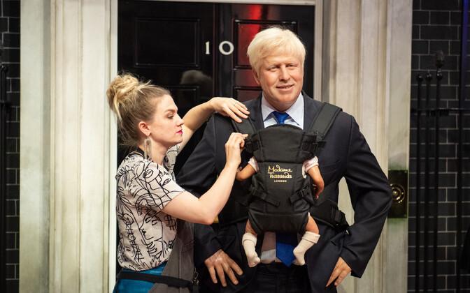 Briti peaministri Boris Johnsoni kuju Madame Tussouds' vahakujude muuseumis Londonis pärast tema elukaaslase lapseootuse avalikuks saamist.