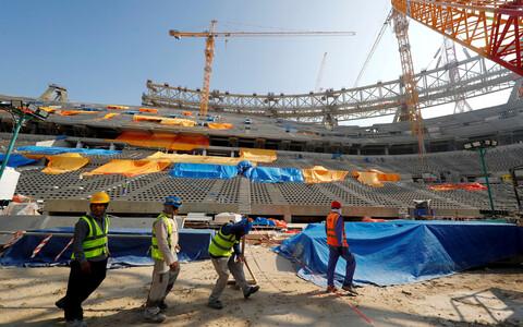 Katari MM-finaalturniiri staadioni ehitus Dohas