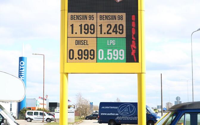 Diislikütuse hind Olerexi tanklas 30. aprillil