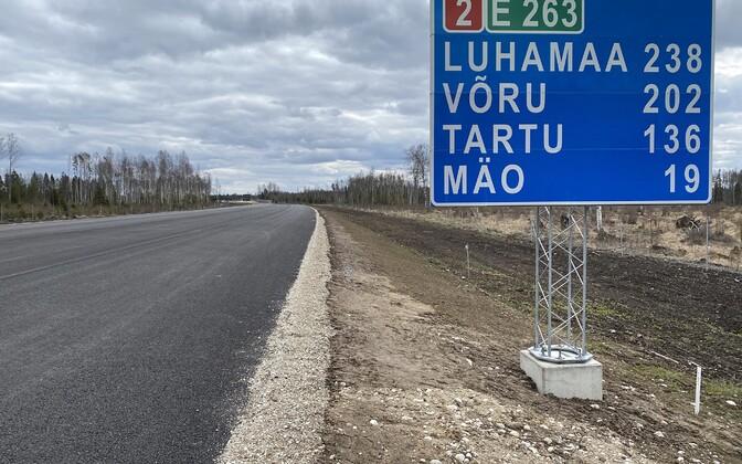Ehitustööd Tallinna-Tartu maanteel Ardu-Võõbu lõigul.