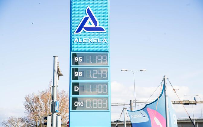 Diislikütuse hind Alexela tanklas 30. aprillil