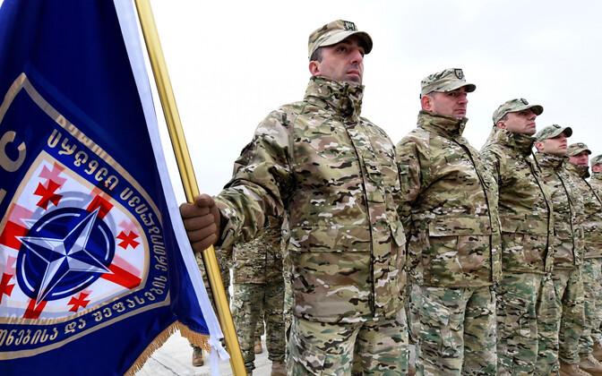 Gruusia ohvitserid NATO-Gruusia ühisõppustel.