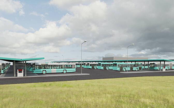 Эскизный проект газовой заправки в автобусном парке.