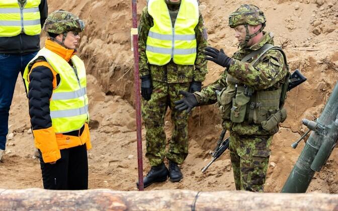 Президент Керсти Кальюлайд посетила учения