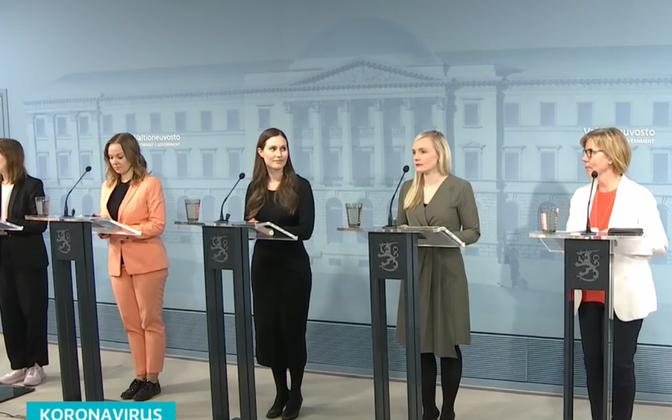 Пресс-конференция правительства Финляндии.