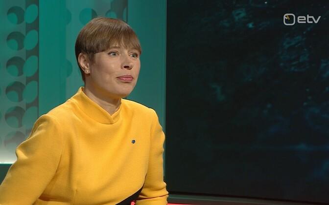 President Kersti Kaljulaid on Monday's