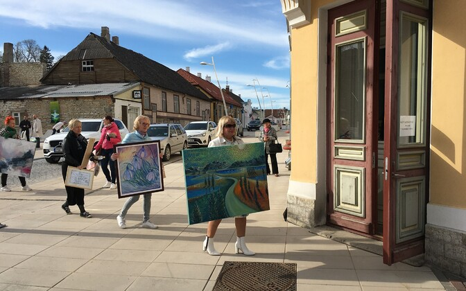 Opening of the Lääne-Viru County artists' spring exhibition