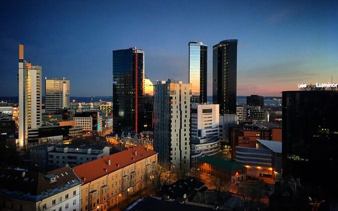 Вид на центр Таллинна.